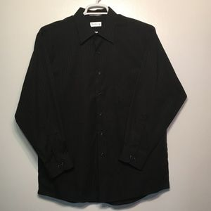 Men's black dress shirt